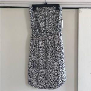 Billabong Black & White Strapless Dress